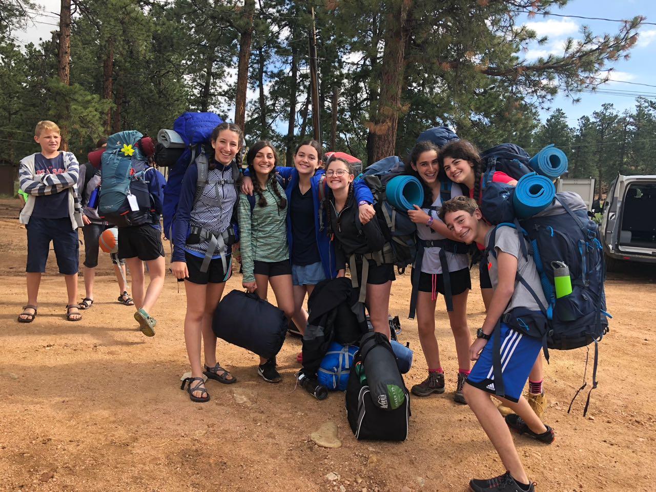 Veinte jóvenes de Comunidad Bet El disfrutan del Camp Ramah 2018 in the Rockies