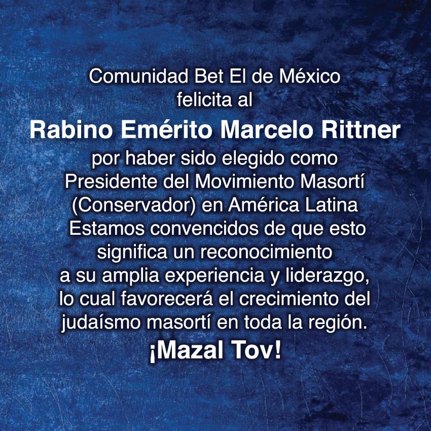 Mazal Tov querido Rabino Marcelo