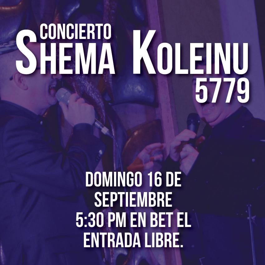 Concierto Shema Koleinu 5779
