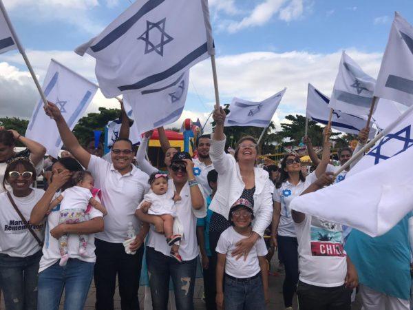 Cristianos marchan en República Dominicana en apoyo a Israel y contra el antisemitismo