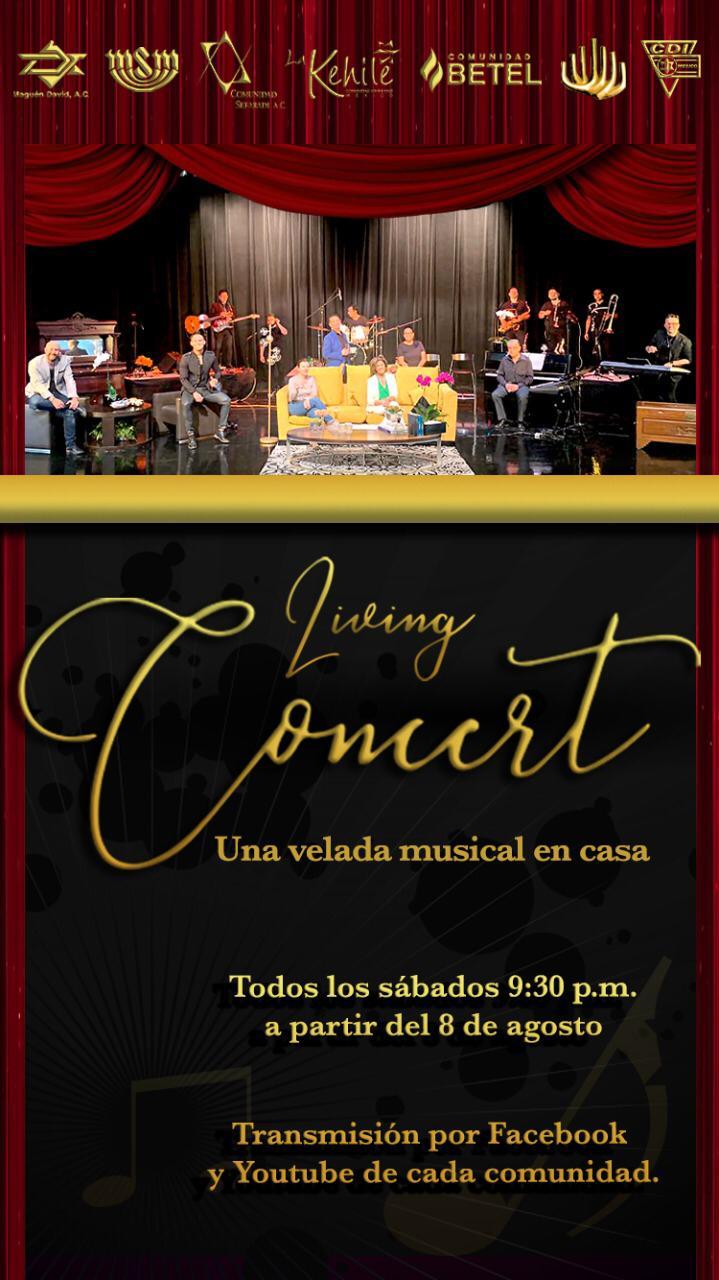 Living concert : una velada musical en casa, todos los sábados  a las 9:30 pm